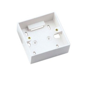 White Or Ivory Fiber Optic Faceplate , ABS / PC Material 2 Port Faceplate 86 * 86
