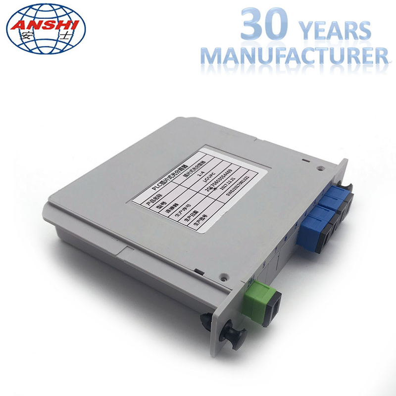 Fiber Optic 1x4 SC / UPC Insert Type PLC Splitter Casette Type Mini Box
