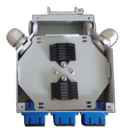 Metal 6 cores Fiber Optic Terminal Box / Waterproof Fiber Optic Termination Box