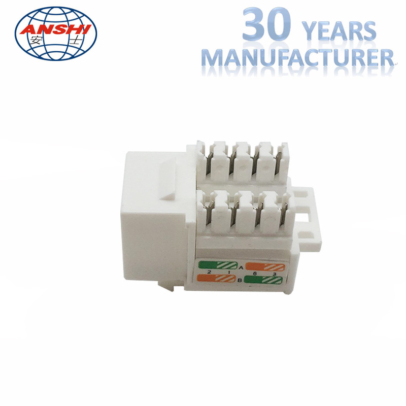 White Cat6 RJ45 Keystone Jack Keystone Punch - Down Stand For Wiring System